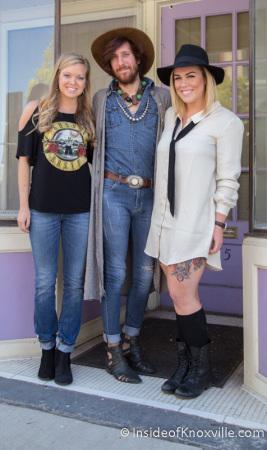 Rachel Dubois, Brandon Radar and Julia Ford, Bula Boutique, 115 South Gay Street, Knoxville, September 2014