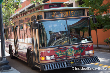 Vol Line Trolley to Publix, Knoxville, August 2014