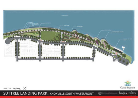 Current Plans for Suttree Landing, South Waterfront, Knoxville