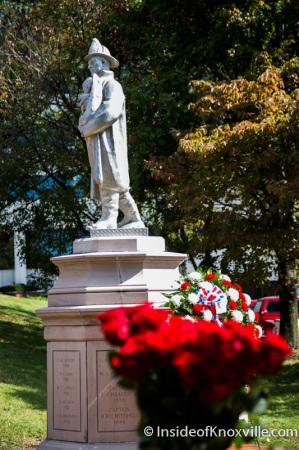 Fallen Firemen Memorial Statue, Day of Honor, KFD Memorial Service, Knoxville, October 2014