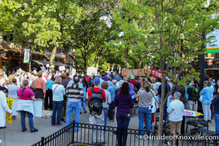 Protest on Market Square Last Spring, Knoxville, 2014