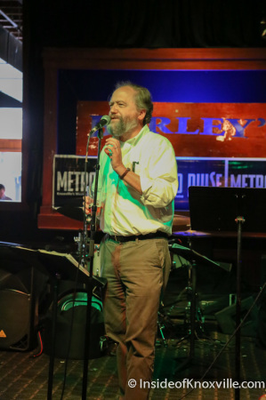 Jack Neely at the Final Metro Pulse Best of Knoxville Awards Party, Barley's, Knoxville, Spring 2014