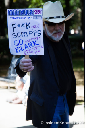 Lincoln, Metro Pulse Protest and Rally, Krutch Park, Knoxville, October 2014