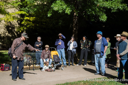 Chris Irwin, Metro Pulse Protest and Rally, Krutch Park, Knoxville, October 2014