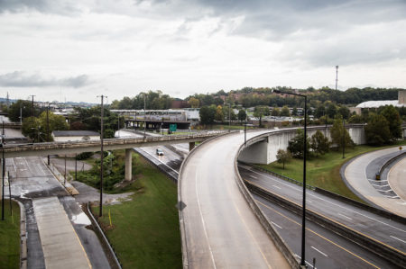 James White Parkway, Barrier to East Development, Knoxville, October 2014