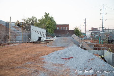 Marble Alley Construction on Commerce, Central and State, Knoxville, October 2014