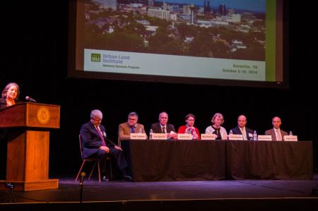 Mayor Rogero and the ULI Panel, Bijou Theatre, Knoxville, October 2014