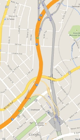 Parkway/I-40 Map After Changes
