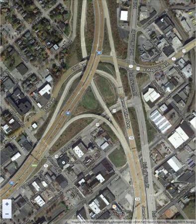 Parkway/I-40 Satellite Image