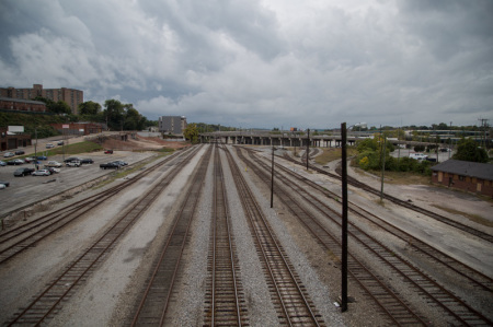 Rail Yard Boundary North Side of Downtown, Knoxville, October 20