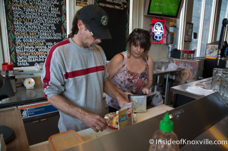 Todd Weidenhamer and Angela Szabo at Curious Dog at the Jackson Ave. Market, Knoxville, October 2014