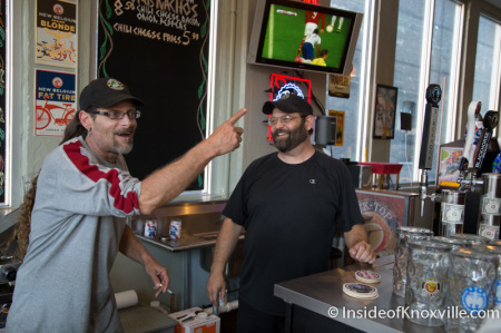 Todd and Matt Weidenhamer at Curious Dog at the Jackson Ave. Market, Knoxville, October 2014