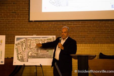 Mark Senn, President of Blanchard and Calhoun Presents Baptist Hospital Site Plans, Flenniken Landing, Knoxville, November 2014