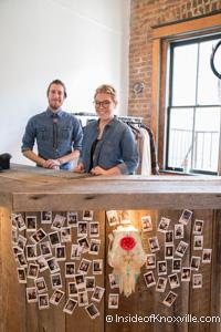 Brandon and Julia, Bula Boutique, 115 South Gay Street, Knoxville, November 2014