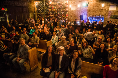 Crowd at Pecha Kucha as seen from the stage, Knoxville, November 2014