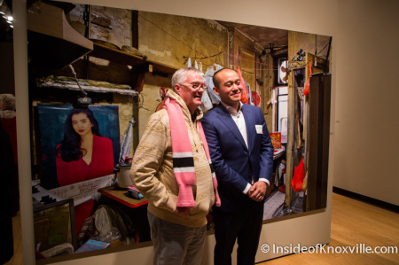 Louis Chan Art Show at the UT Downtown Gallery, Knoxville, November 2014