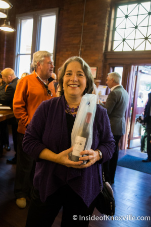 Mayor Rogero and Her Purchase (A Red), ,  Grand Opening of the Blue Slip Winery at the Southern Railway Station, 300 West Depot, Knoxville, November 2014
