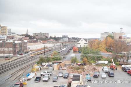 View from White Lily Flats, 222 N. Central Street, Knoxville, November 2014