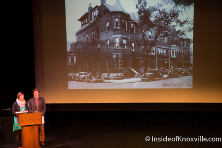 Whitney Manahan and Jared Wilkins Present Lost Knox at the 2014 Knox Heritage Preservation Awards