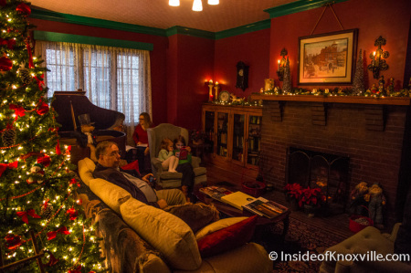 Carmichael House, 224 W.. Glenwood Ave., Old North Victorian Home Tour, Knoxville, December 2014