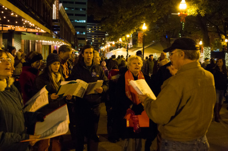 Carolers, Celebration of Lights, Knoxville, November 2014