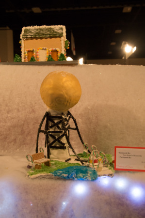 Gingerbread Sunsphere, Fantasy of Trees, Knoxville, November 2014