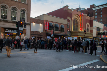 First Ferguson Rally and March, Knoxville, November 2014