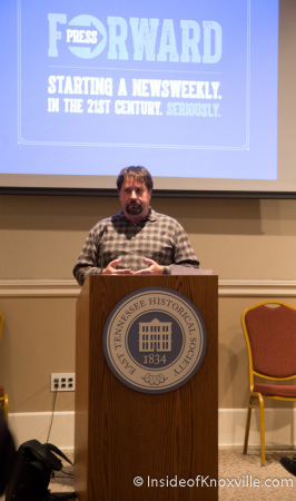 Coury Turczyn introduces the Knoxville Mercury, East Tennessee History Center, Knoxville, December 2014