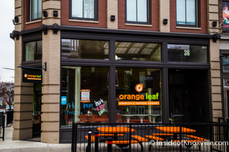 Orange Leaf, 36 Market Square, Knoxville, December 2014