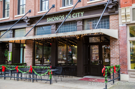 Shonos in City, 5 Market Sqaure, Knoxville, December 2014