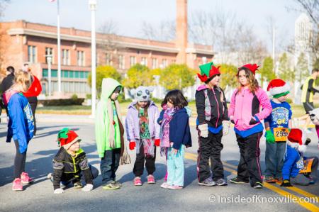 Jingle Bell Run, World's Fair Park Knoxville, December 2014