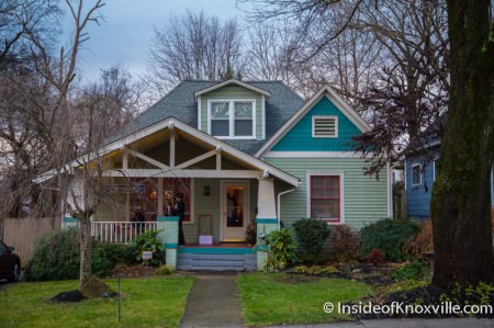 Leach-Oats House, 1236 Armstrong, Old North Victorian Home Tour, Knoxville, December 2014