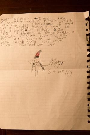 Letter to Santa, Christmas 2014