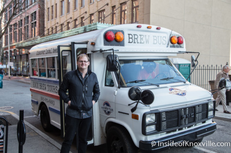 The Brew Bus, Knox Brew Tours, Knoxville, December 2014