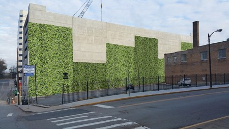 David's Rendition of a Vertical Garden on the Walnut Street Garage