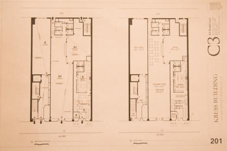 Plans for the Kress Buildinng Renovations, 417 - 421 S. Gay Streeet, Knoxville, January 2015
