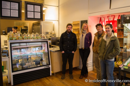 Joe Bliffen, Kristen Faerber, Charlotte Tolley and Chris Burger, Just Ripe, 513 Union Avenue , Knoxville, January 2015