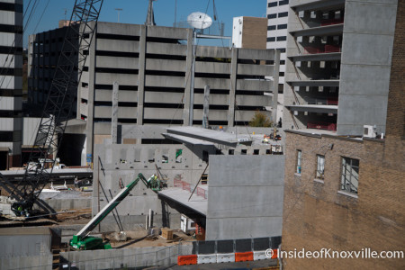 Parking Garage Construction, Knoxville, November 2014