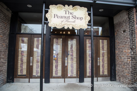Peanut Shop Closed, Market Square, Knoxville, January 2015