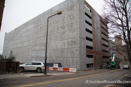South-facing Wall, Walnut Street Garage Construction, Knoxville, Winter 2015