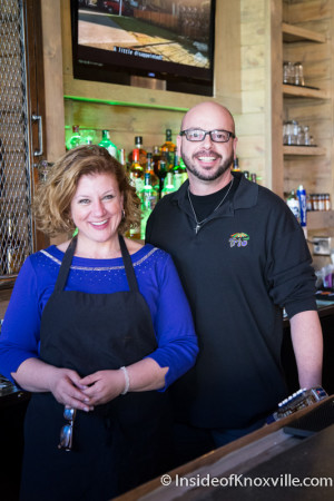 Owner Adrienne Knight and Bartender David Jones, Trio Cafe, 13 Market Square, Knoxville, January 2015