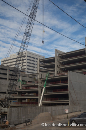 Walnut Street Garage Construction, Knoxville, Winter 2015