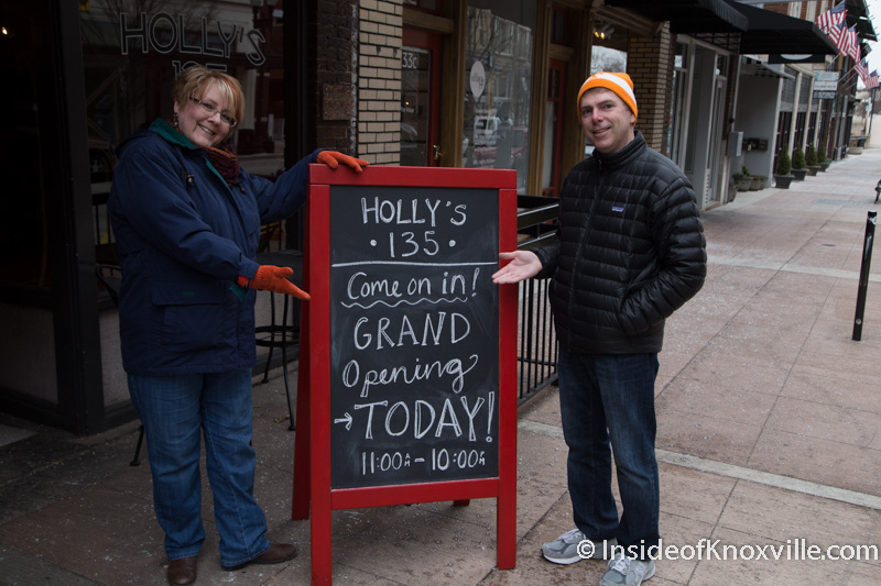 Holly's 135 Officially Opens in the Middle of an Ice Storm