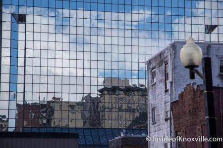 Reflection in BB&T Building, Knoxville, February 2015