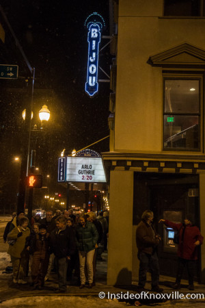 Bijou Theatre in the Snow, Knoxville, February 2015