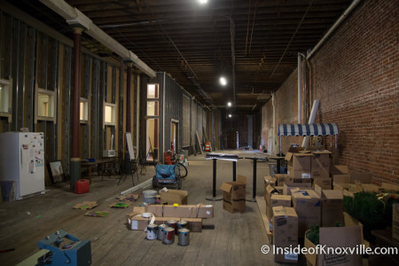 Interior Space to be Converted to Pharmacy, Phoenix Building, 418 S. Gay Street, Knoxville, February 2015