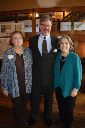 Mary-Linda Shwarzbart, Wayne Blasius and Mayor Rogero, Patrick Sullivan's Building, Knoxville, January 2015