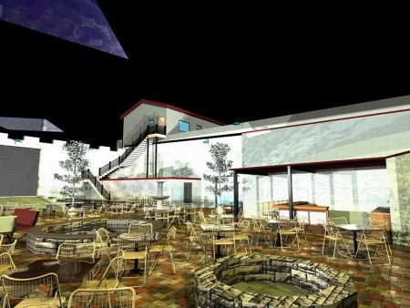 Beer Garden Rendering, Shulz Brau Brewing Company, 126 Bernard, Knoxville, March 2015
