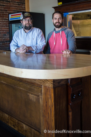 Chris and Jonathan Ford, Sweet P's BBQ, 410 W. Jackson Ave., Knoxville, March 2015