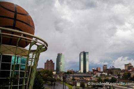Women's Basketball Hall of Fame and Knoxville Skyline, 2014